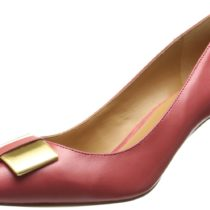Nine West Maney Leather Dress Pump PinkOrange