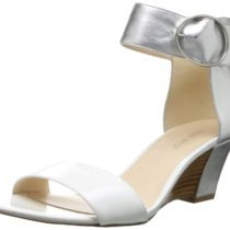 Nine West Ventana Wedge Sandal WhiteSilver