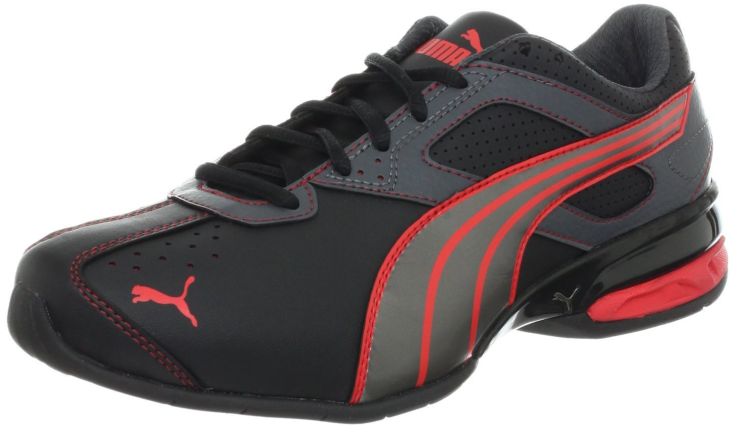 PUMA Tazon 5 Cross-Training Shoe BlackSilverHibiscus f025dcadb