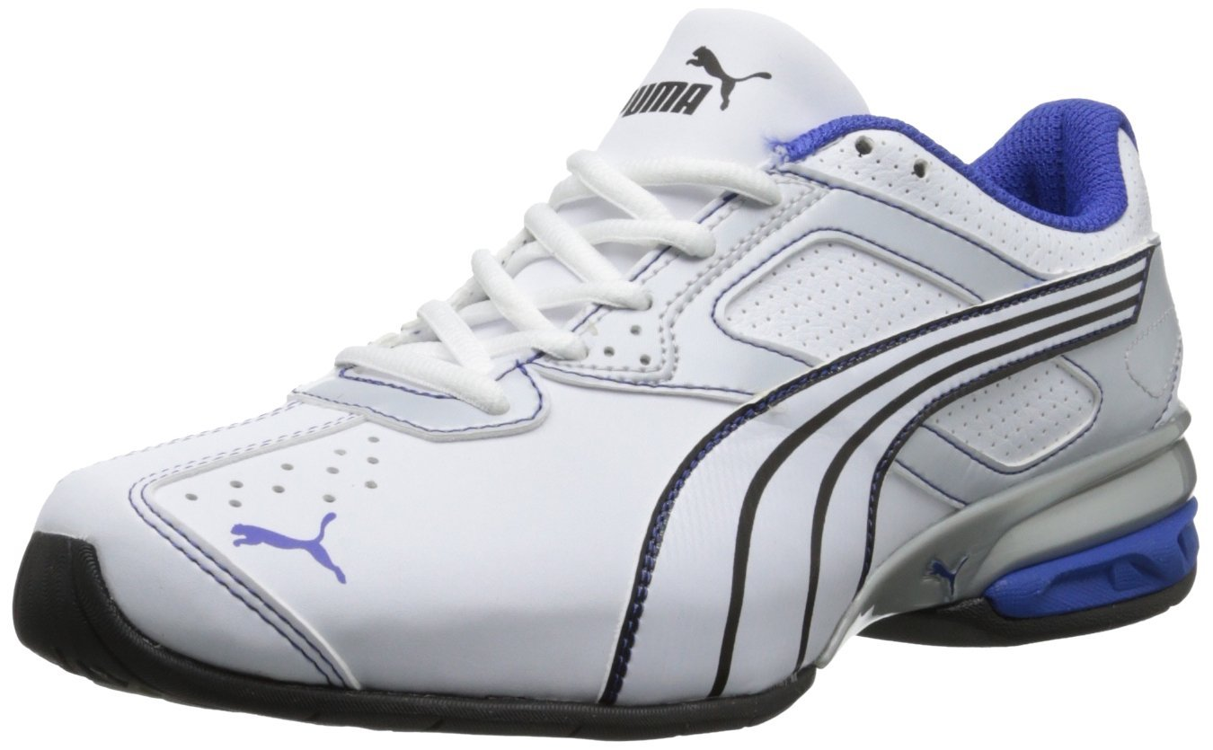 PUMA Tazon 5 Cross-Training Shoe WhiteGreyDazzlingBlue 4fd525752