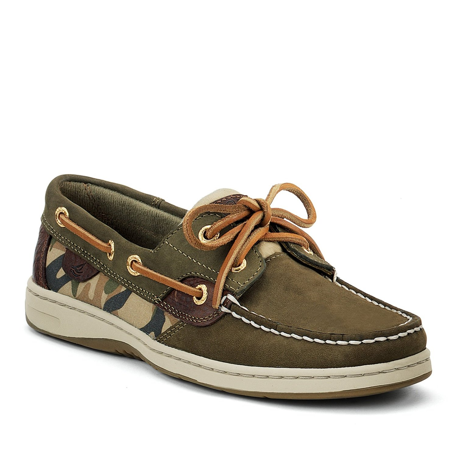 Leather High Top Boat Shoes