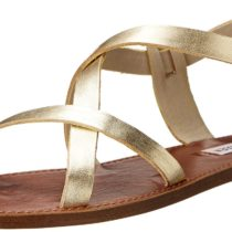 Steve Madden Agathist Gladiator Sandal Gold Leather