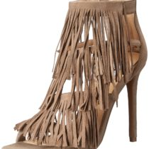 Steve Madden Fringly Dress Sandal Taupe Suede