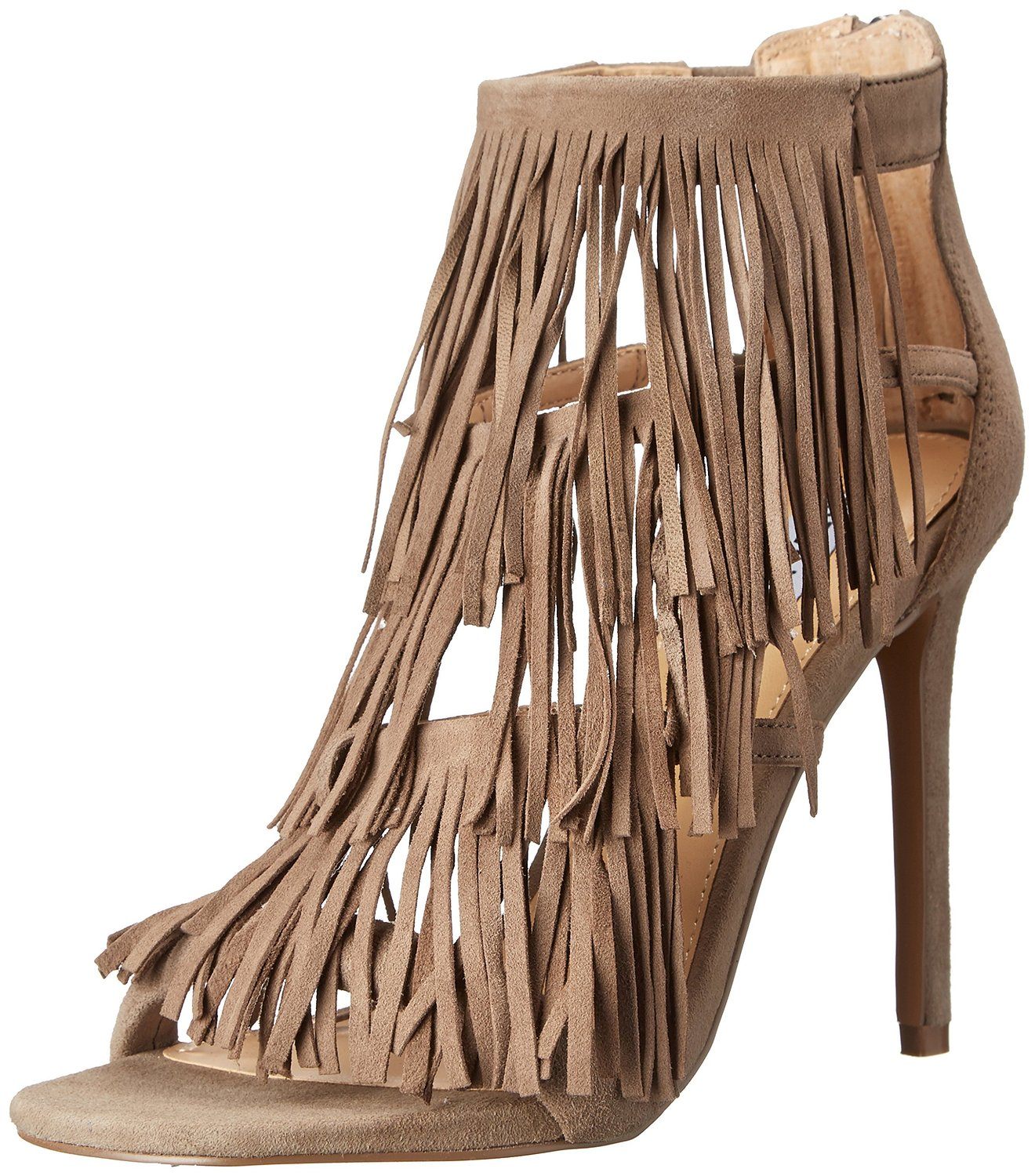 2cac28f470eb Steve Madden Fringly Dress Sandal Taupe Suede