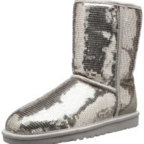 UGG Classic Short Sparkles Boot Silver