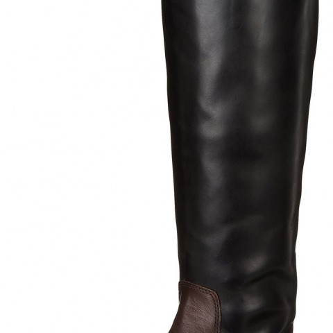 Vince Camuto Fabina Riding Boot Black and Brown