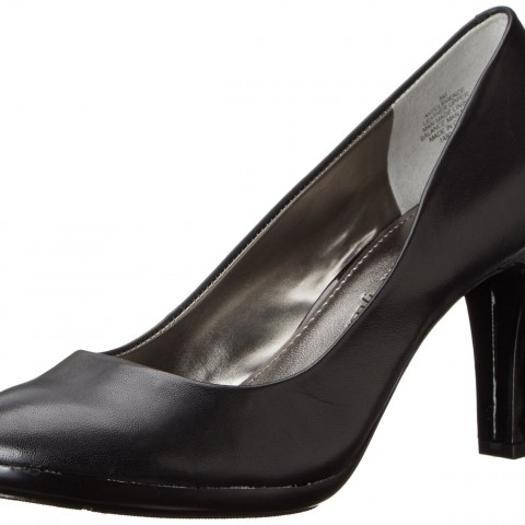 AK Anne Klein 7Clemence Leather Dress Pump Black Color