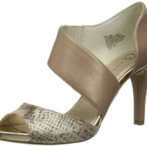 AK Anne Klein Opted Leather Dress Pump Bronze