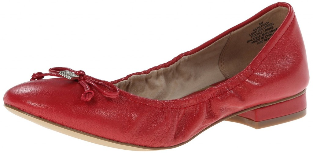 Ak Anne Klein Petrica Leather Ballet Flat Top Heels Deals