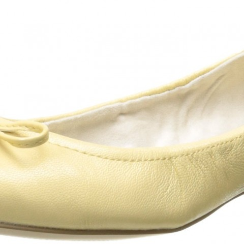 AK Anne Klein Petrica Leather Ballet_Yellow