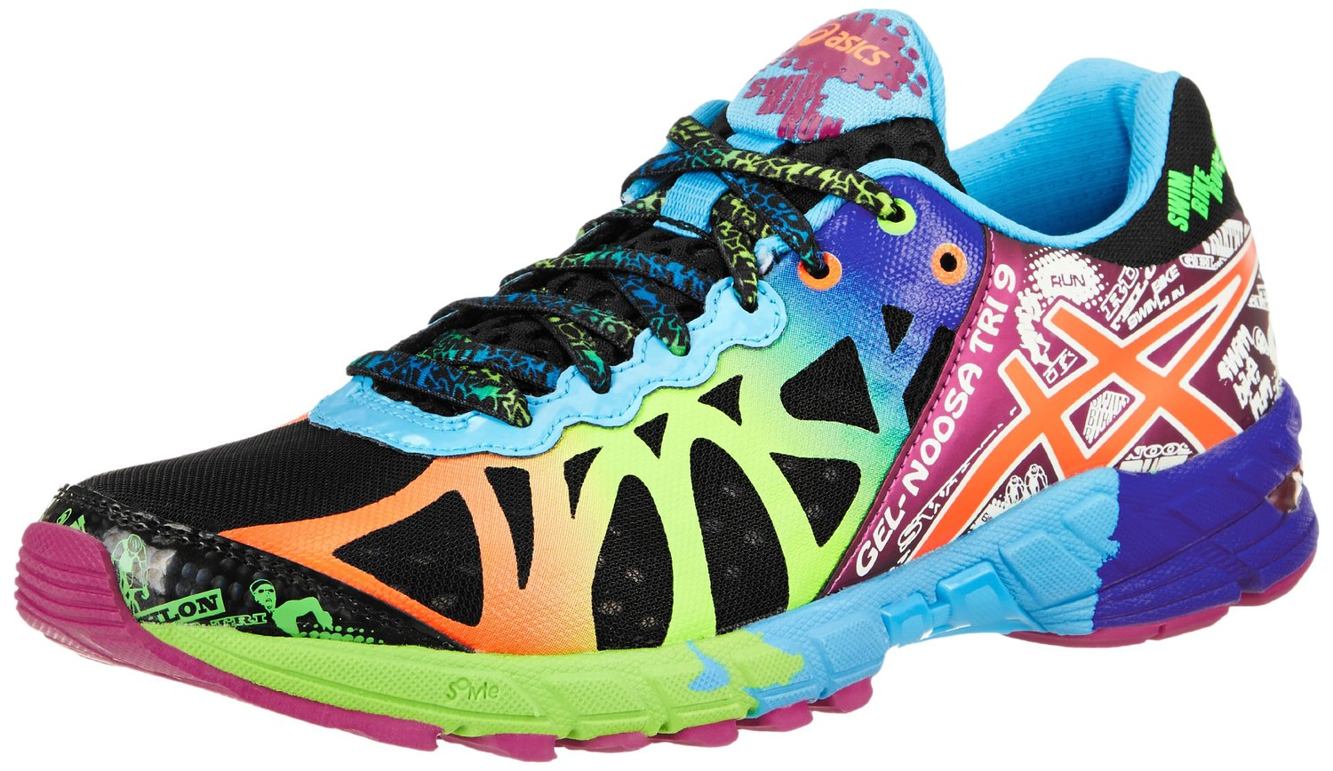 Womens Rainbow Running Shoes