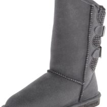 BEARPAW Boshie Snow Boot Black Distressed