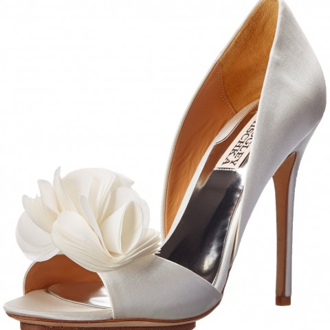 Badgley Mischka Blossom D'Orsay Pump White