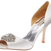 Badgley Mischka Jazmin D'Orsay Pump white