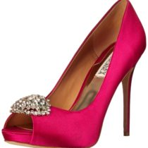 Badgley Mischka Jeannie Satin Platform Pump Fuschia