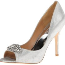 Badgley Mischka Lavender Dress Pump Silver Mettalic Suede
