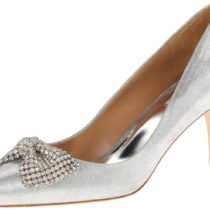 Badgley Mischka Lemonade II Dress Pump Silver metallic Suede