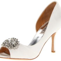 Badgley Mischka Pearson D Orsay Pump White Satin