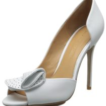 Badgley Mischka Tarian D'Orsay Pump White Leather