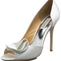 Badgley Mischka Tarian II D'Orsay Pump White Satin