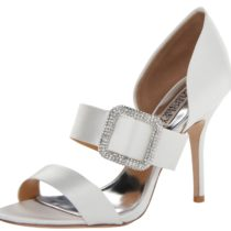 Badgley Mischka Tila Dress Sandal White Satin