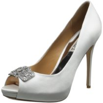 Badgley Mischka Tory Platform Pump White