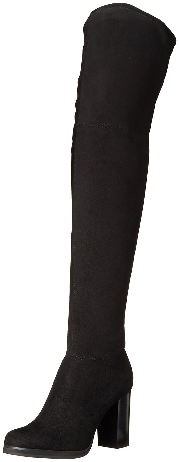 63caa5abfa5 Calvin Klein Bisma Over-the-Knee Boot Black Mirco Suede
