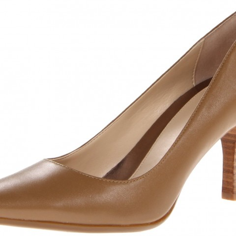 Calvin Klein Dolly Kidskin Dress Pump Taupe