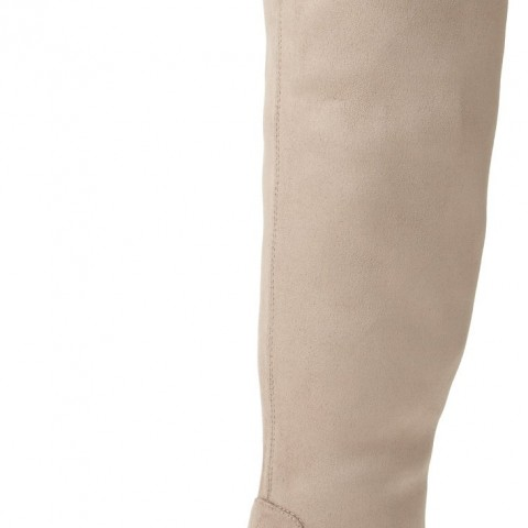 Calvin Klein Rae Stretch Microfiber Slouch Boot Mink