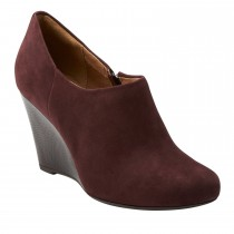 Clarks Purity Frost Wedge Boot Red