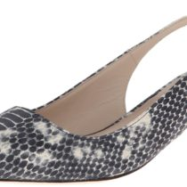 Cole Haan Bradshaw Sling 40 Dress Pump BlackWhite Snake Print