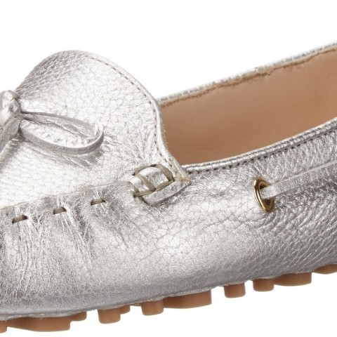 Cole Haan Women's Cary Moccasin_Argento Metallic