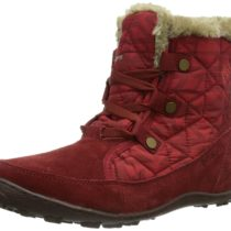 Columbia Minx Shorty Omni-Heat Print Winter Boot Red Dahlia Bright Red