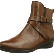 ECCO Abelone Cross Buckle Boot Mahogany
