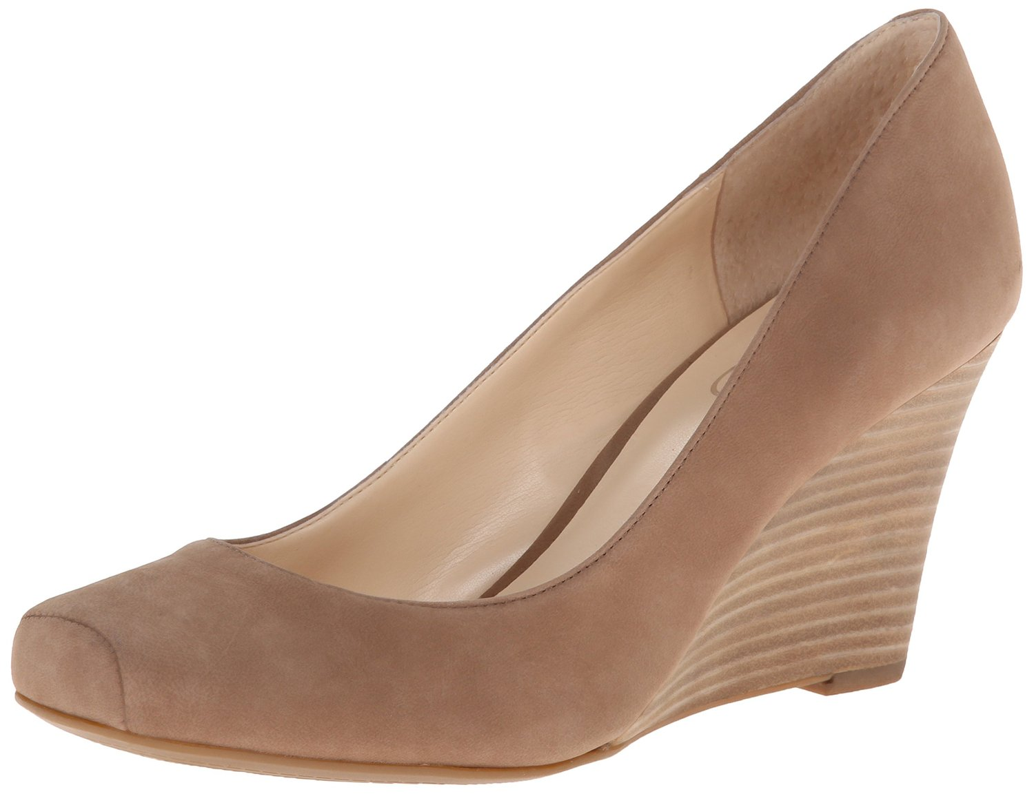 65c360e251d Jessica Simpson Salley Wedge Pump Totally Taupe