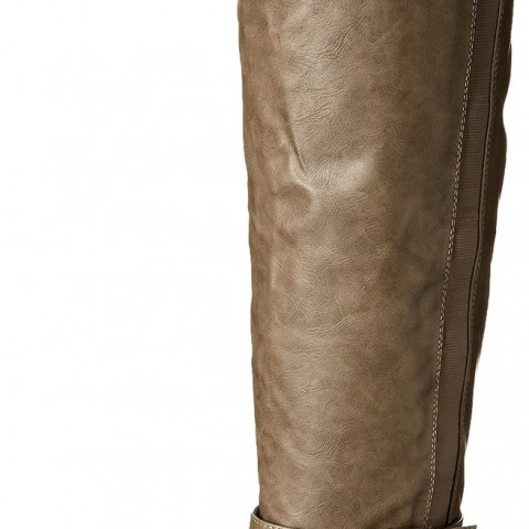 Madden Girl Zilch Motorcycle Boot Taupe