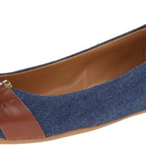 Nine West Accidental Fabric Ballet Flat_Blue&Brown