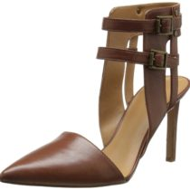 Nine West Catchme Leather Dress Pump Brown