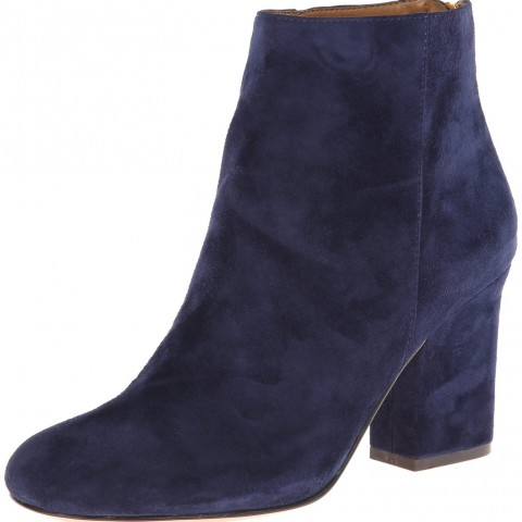 Nine West Genevieve Boot Navy Suede