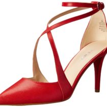 Nine West Peacesign Leather Dress Pump Red