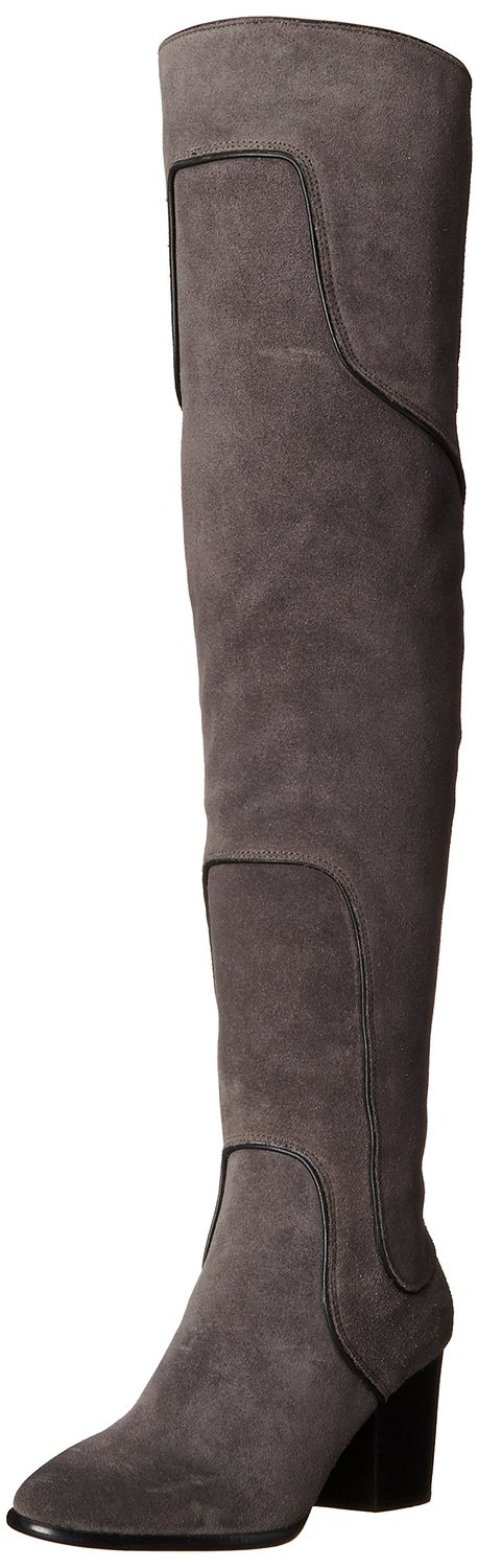 40b631f036e Rebecca Minkoff Blessing Over-the-Knee Boot Charcoal Waxy Suede