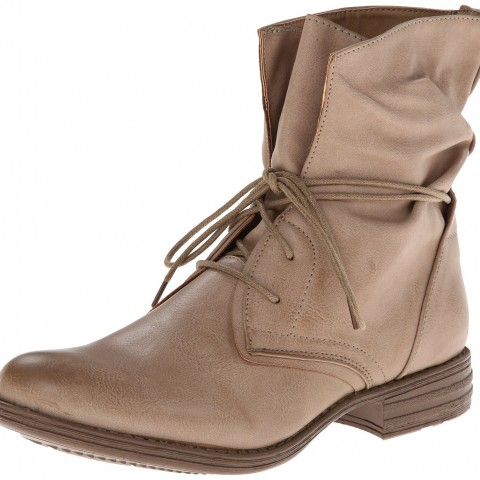 Skechers Mad Dash Money Slouch Boot Taupe