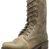 Steve Madden Cornnel Combat Boot Taupe Leather