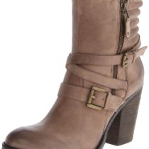 Steve Madden Raleighh Motorcycle Boot Stone