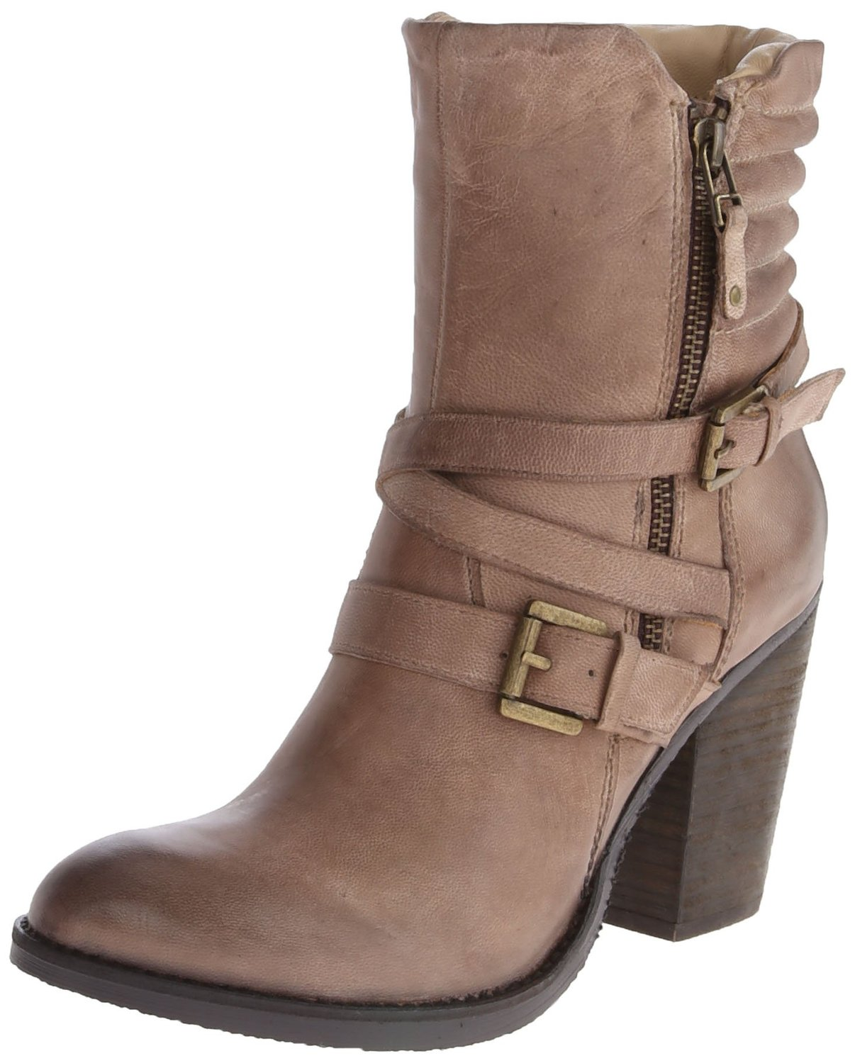 34894d58ab Steve Madden Raleighh Motorcycle Boot Stone