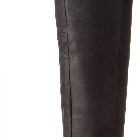 Steve Madden Rannsome Riding Boot Black Leather