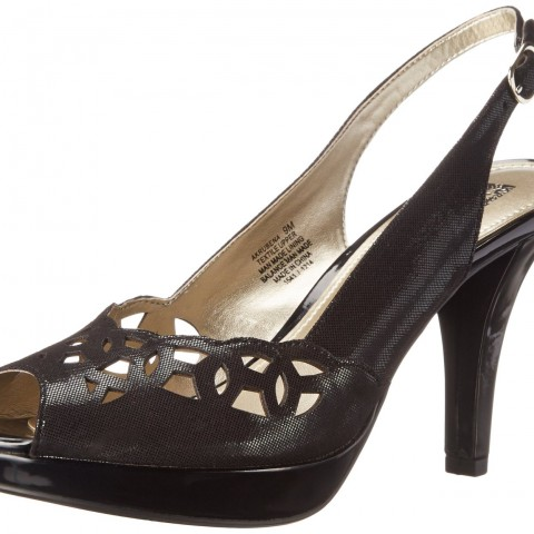 AK Anne Klein Rubena Fabric Platform Pump Black