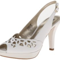 AK Anne Klein Rubena Leather Platform Pump White
