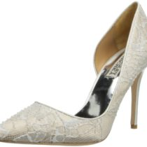 Badgley Mischka Haylee D'Orsay Pump White
