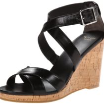 Cole Haan Jillian Wedge Sandal Black Leather
